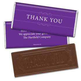Thank You Personalized Embossed Chocolate Bar Simple