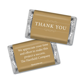 Personalized Thank You Simple Hershey's Miniature Wrappers Only