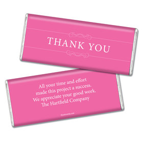 Thank You Personalized Chocolate Bar Simple