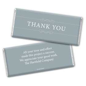 Thank You Personalized Chocolate Bar Wrappers Simple