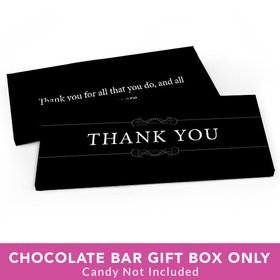 Deluxe Personalized Business Thank You Candy Bar Favor Box