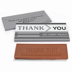 Deluxe Personalized Business Thank You To the Point Chocolate Bar in Gift Box