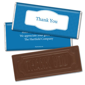 Thank You Personalized Embossed Chocolate Bar Pin Dots
