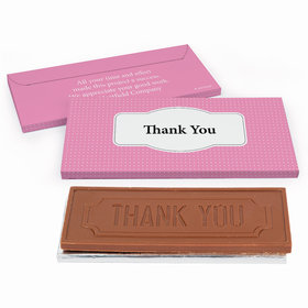 Deluxe Personalized Business Thank You Pin Dots Chocolate Bar in Gift Box