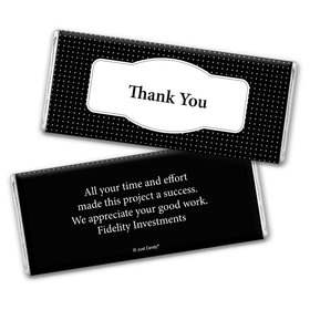 Thank You Personalized Chocolate Bar Wrappers Pin Dots