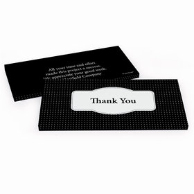 Deluxe Personalized Business Thank You Pin Dots Hershey's Chocolate Bar in Gift Box