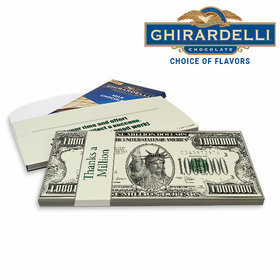 Deluxe Personalized Business Thanks a Million Ghirardelli Chocolate Bar in Gift Box
