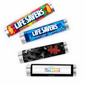 Personalized Thank You Key Piece Add Your Logo Lifesavers Rolls (20 Rolls)