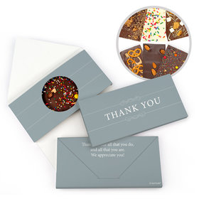 Personalized Thank You Simple Gourmet Infused Belgian Chocolate Bars (3.5oz)
