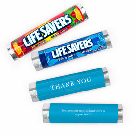 Personalized Thank You Simple Business Lifesavers Rolls (20 Rolls)