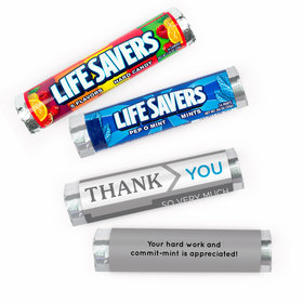 Personalized Thank You To the Point Lifesavers Rolls (20 Rolls)