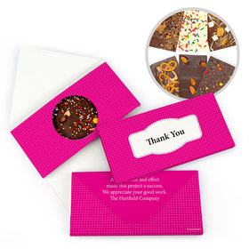 Personalized Thank You Pin Dots Gourmet Infused Belgian Chocolate Bars (3.5oz)