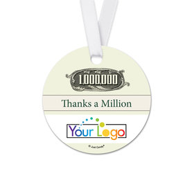 Personalized Round Thank You To the Point Favor Gift Tags (20 Pack)