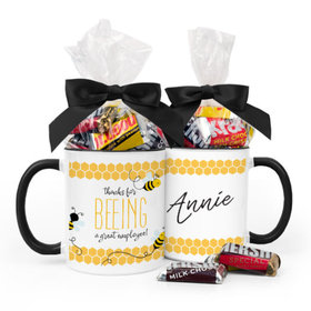 Personalized Thank You Bee 11oz Mug with Hershey's Miniatures