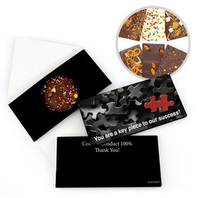 Personalized Thank You Puzzle Key Piece Gourmet Infused Belgian Chocolate Bars (3.5oz)