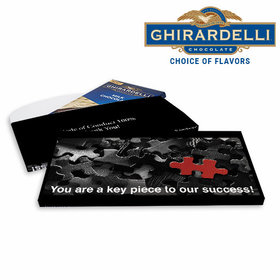 Deluxe Personalized Business Key Piece Ghirardelli Chocolate Bar in Gift Box
