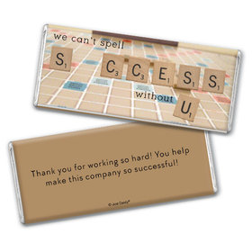 Personalized Thank You Scrabble Success Chocolate Bar & Wrapper