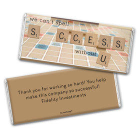 Personalized Thank You Scrabble Success Chocolate Bar Wrappers Only