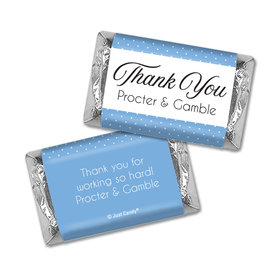 Personalized Thank You Pin Dots Hershey's Miniature Wrappers Only