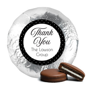 Business Promotional Chocolate Covered Foil Oreos Dotted Thank You