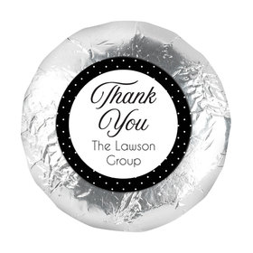"Business Promotional 1.25"" Sticker (48 Stickers) Dotted Thank You"