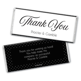 Personalized Business Dotted Thank You Chocolate Bar & Wrapper