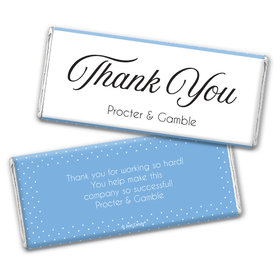 Personalized Business Dotted Thank You Chocolate Bar Wrappers