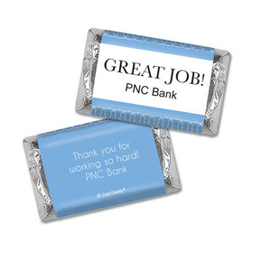 Personalized Great Job Thank You Pin Dots Hershey's Miniature Wrappers Only