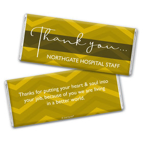 Personalized Thank You Chevron Chocolate Bar Wrappers