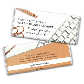 Personalized Working From Home Thank You with Logo Chocolate Bars