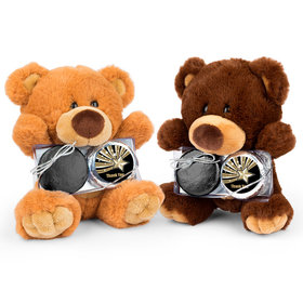 Personalized Thank You Gold Star Teddy Bear with Chocolate Covered Oreo 2pk