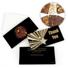 Personalized Thank You Gold Star Gourmet Infused Belgian Chocolate Bars (3.5oz)