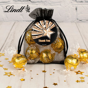 Personalized Thank you Lindt Truffle Organza Bag- Stars