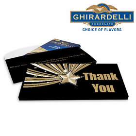 Deluxe Personalized Business Rising Star Ghirardelli Chocolate Bar in Gift Box