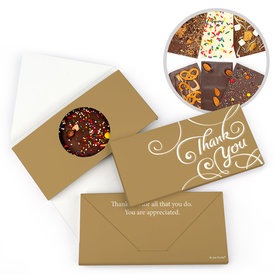 Personalized Thank You Scroll Gourmet Infused Belgian Chocolate Bars (3.5oz)