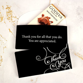Deluxe Personalized Business Thank You Scroll Godiva Chocolate Bar in Gift Box