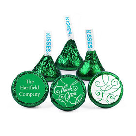 Personalized Thank You Swirls Hershey's Kisses (50 pack)