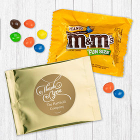 Personalized Business Thank You Scroll Peanut M&Ms