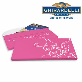 Deluxe Personalized Business Thank You Scroll Ghirardelli Peppermint Bark Bar in Gift Box (3.5oz)