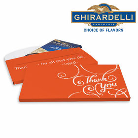 Deluxe Personalized Business Thank You Scroll Ghirardelli Chocolate Bar in Gift Box