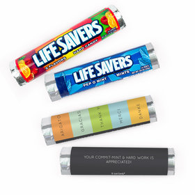 Personalized Thank You Multi Language Lifesavers Rolls (20 Rolls)