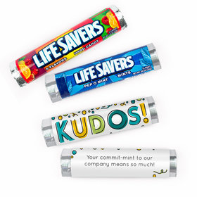 Personalized Thank You Business Kudos! Lifesavers Rolls (20 Rolls)