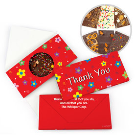 Personalized Thank You Flowers Gourmet Infused Belgian Chocolate Bars (3.5oz)