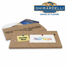 Deluxe Personalized Business Add Your Logo Thank You Ghirardelli Chocolate Bar in Gift Box