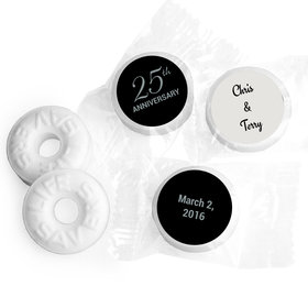 Anniversary Stickers Simple 25th Anniversary Personalized Life Savers