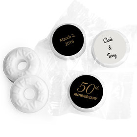Anniversary Stickers Simple 50th Anniversary Personalized Life Savers