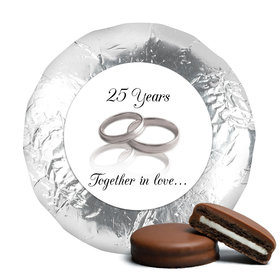 Anniversary Chocolate Covered Oreos Gilded Rings 25th (24 Pack)
