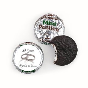 Anniversary Personalized Pearson's Mint Patties Gilded Rings 25th