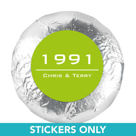 "Anniversary 1.25"" Sticker Banner Year (48 Stickers)"
