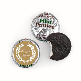 Anniversary Personalized Pearson's Mint Patties Then and Now Golden 50th